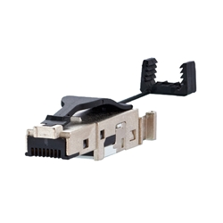 Conector Ethernet Industrial Cat.6A macho UTP/STP RJ45 para cable rígido y flexible (tool-less)