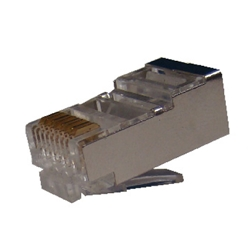 Conector Cat. 6A Macho FTP RJ49 para Cable Flexible