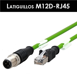 Latiguillos Serie M12D Cat.5e (4 Pin) 100 Mbps